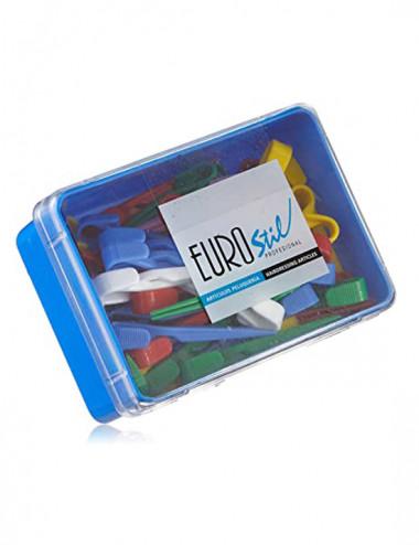 Pinzas de Plastico Caja 60 Unidades - Euro Stil
