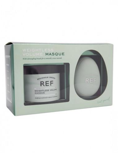 Box Masques & Detangling Brush - Weightless Volume 250ml-REF